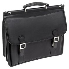 McKlein USA Halsted Leather Laptop Case - Black | from hayneedle.com