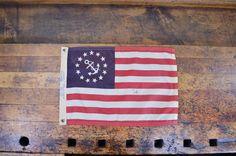 Vintage US Yacht Flag, Yacht Ensign, Nautical Flag, Marine Flag