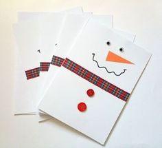 Tarjeta de felicitación de Navidad de muñeco por DesignsByMistyBlue