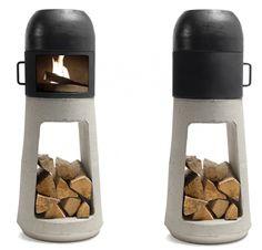 small concrete chimney-