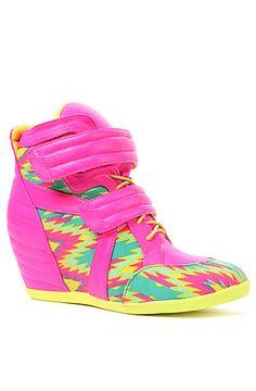 The Electric Sneaker in Pink Multi. Fun! #karmaloop