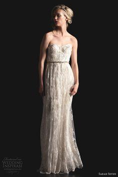 sarah seven bridal 2014 blyhe strapless wedding dress lace
