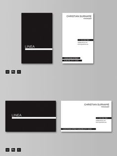 LINEA Business Card Template. Business Card Templates. $6.00