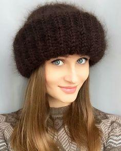 Crochet Cap, Beret, Mittens, Lana, Knitted Hats, Winter Hats, Knitting, Sewing, Handmade
