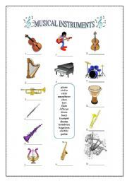 musical instrument worksheets music class resources pinterest musical instruments. Black Bedroom Furniture Sets. Home Design Ideas