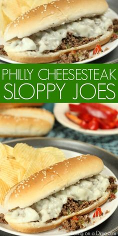 Try this Easy Philly Cheesesteak sloppy joes recipe for a quick dinner! Everyone will love Philly cheese sloppy joes. The onions, peppers and cheese are so good! Philly cheese steak sloppy joes is so Fast Dinner Recipes, Fast Dinners, Easy Meals, Cheap Easy Dinners, Simple Recipes For Dinner, Quick Beef Recipes, Fast Easy Dinner, Cheap Recipes, Dinner Healthy