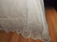 Vintage Bedspread Lace Blanket Full 1970's Throw by ThumbelinasOne