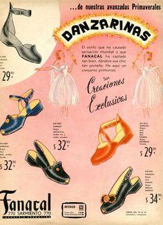1948 DANZARINAS shoes ad: Argentina (Para Ti mag)