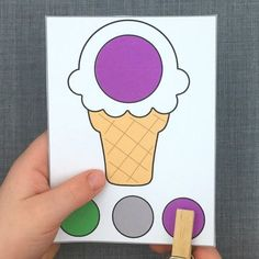 color clip cards download for preschool and kindergarten File Folder Activities, File Folder Games, Preschool Painting, Color Crafts, Summer Activities For Kids, Toddler Learning, Home Schooling, Math Classroom, Task Cards