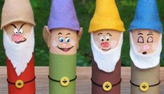 Toilet Paper Roll Crafts - Get creative! These toilet paper roll crafts are a great way to reuse these often forgotten paper products. You can use toilet paper Kids Crafts, Disney Crafts For Kids, Crafts To Do, Art For Kids, Arts And Crafts, Disney Diy, Movie Crafts, Family Crafts, Disney Theme