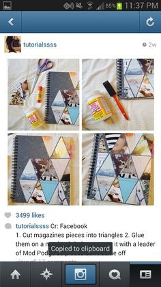 Magazines, notebook diy