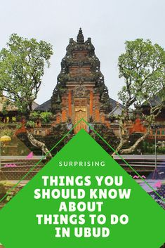 Surprising Things You Should Know About Things To Do In Ubud