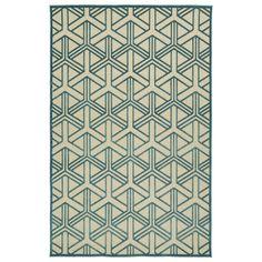 Indoor/Outdoor Luka Blue Dimensions Rug (8'8 x 12'0) $345