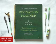 Large Harry Potter Planner Slytherin / Thick / by Ruskerville