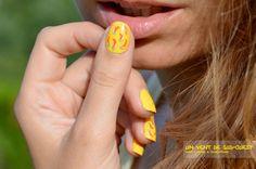 Blog Beauté Nail Art 2013 Drôle de Mouchtique - tendance mode vernis - Ongles nails L'Oréal color riche été fluo wasabi hint banana pop energic tangerine flamingo pink - poivrons piments sud ouest