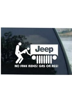 Funny car decal