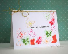 you are awesome - Altenew - Painted Butterflies