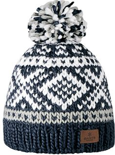 Barts Women's Log Cabin Ski/Snowboard Beanie Bobble Hat, Navy Blue