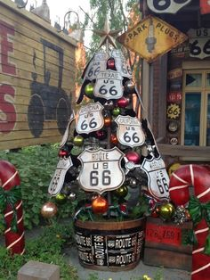 Christmas Trees of Cars Land - Route 66 Christmas Tree