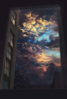 25 New ideas for fantasy art painting sky Sky Aesthetic, Korean Aesthetic, Animation Background, Trippy Background, Anime Scenery, Art Paintings, Cute Wallpapers, Phone Wallpapers, Aesthetic Wallpapers