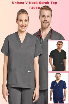 Unisex Classic Style Scrub V-neck top features one chest pocket, two lower patch pockets and a shoulder pen pocket, meets utmost comfort. Mobb, Scrub Tops, Pharmacy, V Neck Tops, Scrubs, Classic Style, Long Sleeve Tees, Polo Ralph Lauren, Medical
