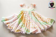 Peppermint Swirl Dress Candy Castle Patterns 6M-10Y