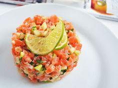 Tartare de saumon à la granny smith, lime et coriandre par Ratatouille et…