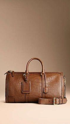 b2b11feb6d Crocodile Duffle Bag Leather Duffle Bag