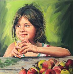 La pomme  Huile sur toile  Par Emil Ungureanu