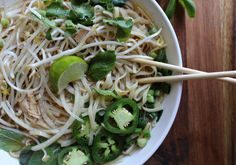 ,An Easy Rotisserie Chicken Pho that only takes 30 minutes before your slurping your first