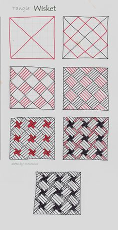 The Phrontistery  dictionary says that a Wisket is a basket. Since this tangle is another take on a basketweave type pattern, that seemed l...