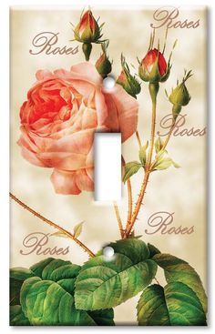Single Gang Toggle Wall Plate - Redoute Roses - - Amazon.com