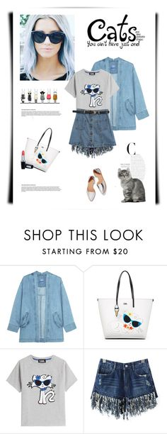 """""""Cat love 🐈"""" by anne-irene ❤ liked on Polyvore featuring Steve J & Yoni P, Karl Lagerfeld, Loeffler Randall and Chicnova Fashion"""