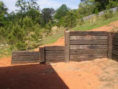 Approved Railroad Tie Retaining Wall