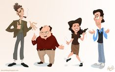 HEY! What about Seinfeld, huh?   28 Pieces Of Unsettling 90s Sitcom Fan Art