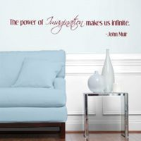 The power of imagination makes us infinite Wall Decal Sticker Graphic