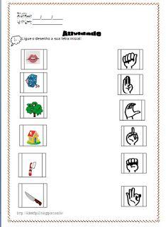 POR  AMOR: Atividade com o alfabeto em Libras : Ligar o desen...