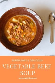 Easy Vegetable Beef Soup - #soups #soup #easyrecipe #beefsoup #beefrecipes