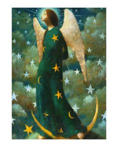 """""""Celestial Angel"""" (Copyright 2014), by Stephen Mackey, Limited edition print, Mixed Media, England.  #angels"""