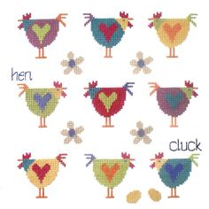 Buy The Stitching Shed Chicken Sampler Cross Stitch Kit online at JohnLewis.com - John Lewis