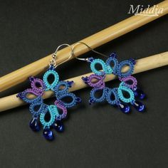 easy tatted earrings for beginners