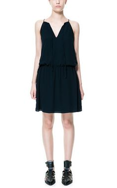 Image 1 of COMBINATION DRESS WITH BOW from Zara