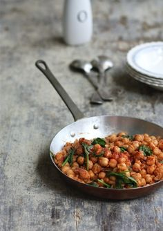 Moroccan spice chickpea and spinach.