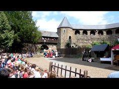 Средневековый замок. Рыцарские поединки. Schloss Burg Solingen 23.09.2013 - YouTube