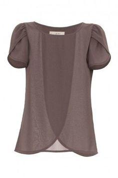 Veroda Chemisier en pur mousseline manches larges T-shirt