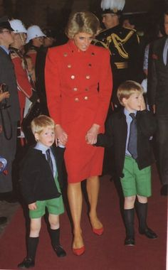 1988-07-28 Diana, William and Harry at the Matinee Performance of the 1988 Royal Tournament at Earls Court