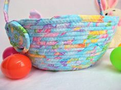 I handmade this pretty Blue Easter Basket,,,,, Handmade by me,,,,,, Fun Easter Egg Hunt  Basket by WexfordTreasures