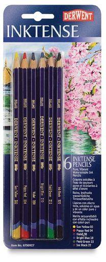 Inktense Pencil Set - 6 Colored Pencil Tutorial, Colored Pencil Techniques, Watercolor Pencils, Watercolor Art, Watercolors, Watercolor Tutorials, Colouring Techniques, Art Techniques, Fabric Painting