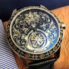 Intricate time piece.
