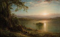 CHURCH, Frederic Edwin - Dawn in the Tropics (1872) 73 × 118.1 cm (oil on canvas)